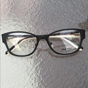 Nine West eyeglass petite fit  brown metal women